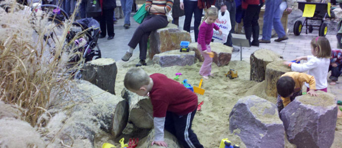 Few things are more fun than wood, rocks and sand, in infinite shapes and sizes..