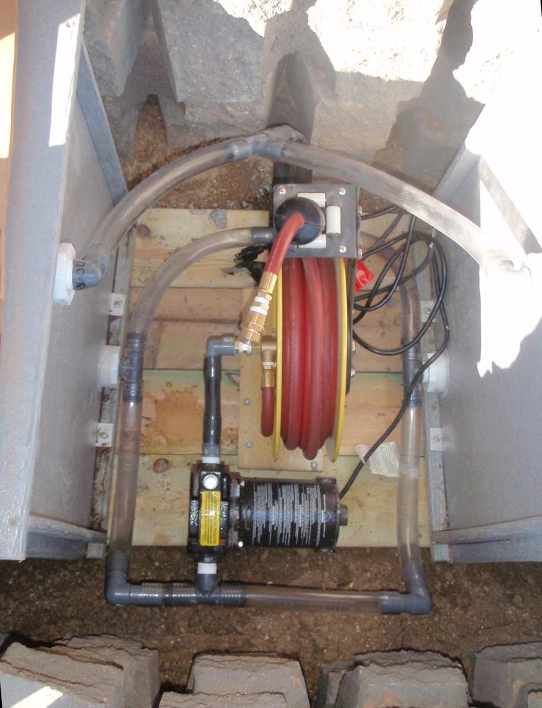 pump & retractable hose
